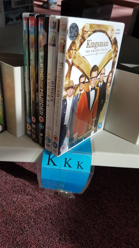 White supremist video section at the library