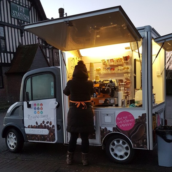 New coffee wagon @ Stoneleigh