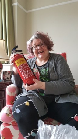 Matching fire extinguisher