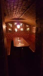 The bar @ TT Liquor is in an old police station and they made the cells into booths