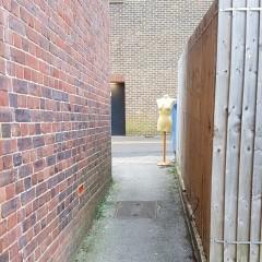 Art installation in Leatherhead