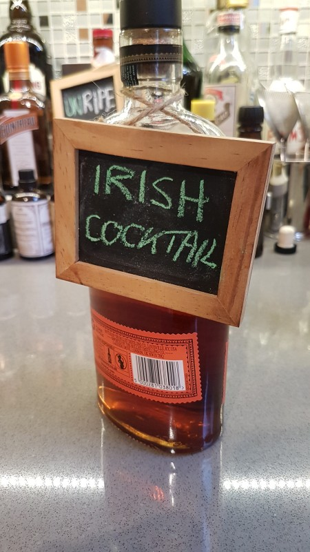I'm taking the Irish Cocktail out of the barrel