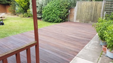 Deck treated