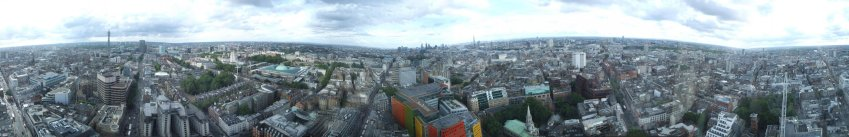360 pano from the top of Centre Point