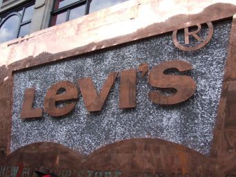 Sign made of rivets.
