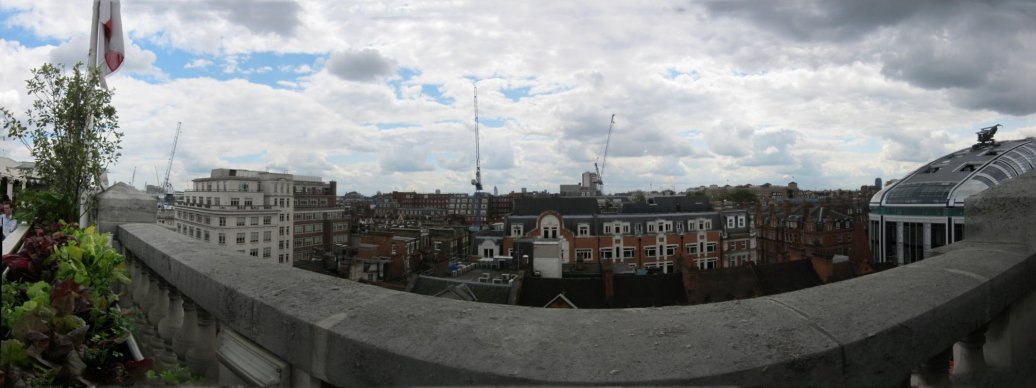 View from the roof of Selfridges