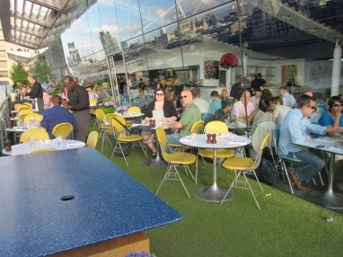 Al fresco dinning at the OXO building
