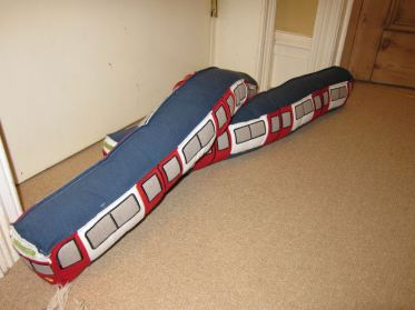 Tube train draught excluder wreck - no one harmed