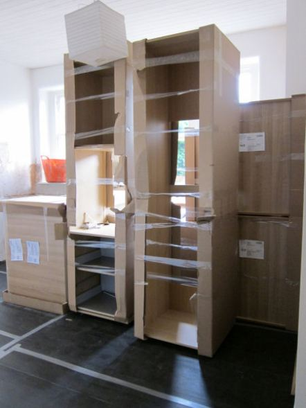 The new kitchen units arrive