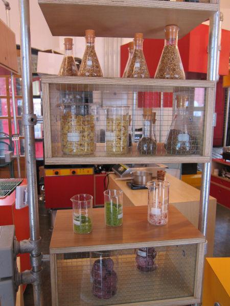 sprinkles in flasks & beakers