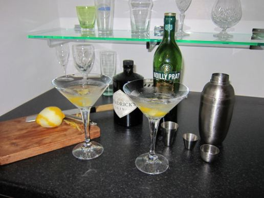 New bar inauguration - first martinis
