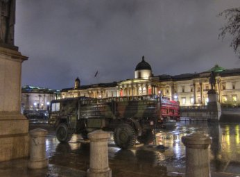 The UDF occupy Trafalgar Square