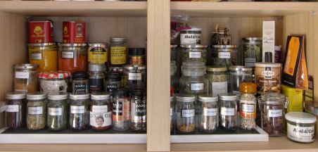 10 Our spice shelf