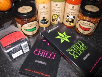We gave each other lots of chilli related presents this christmas