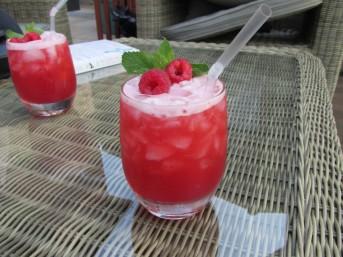 Bourbon cocktails on the patio