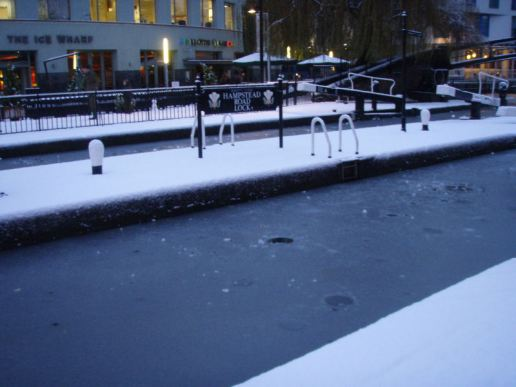 Frozen lock.