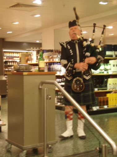 Addressing the Haggis @ John Lewis - I like this shop! It's exciting!