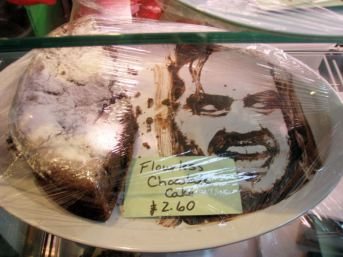31 Forget Banksy - there is an artist at Plan 9 coffee shop next door who paints amazing portraits in chocolate!
