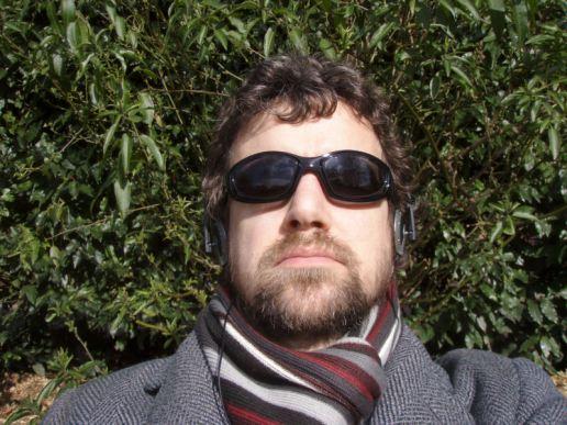 Sunbathing in the park in March...
