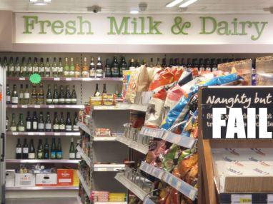 27 Fresh milk & dairy fail