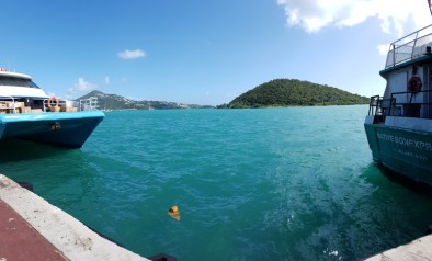 Waiting for the ferry from St. Thomas to Gorda