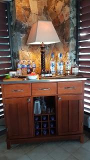 The bar in the villa