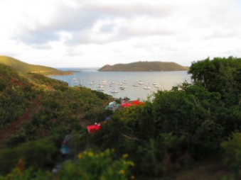Leverick Bay from the villa
