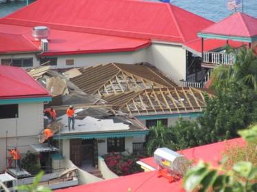 Roof repairs at Leverick Bay