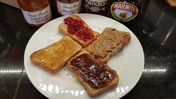 Quattro Toasti on home made bread