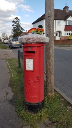 St. Patrick's Day postbox decoration