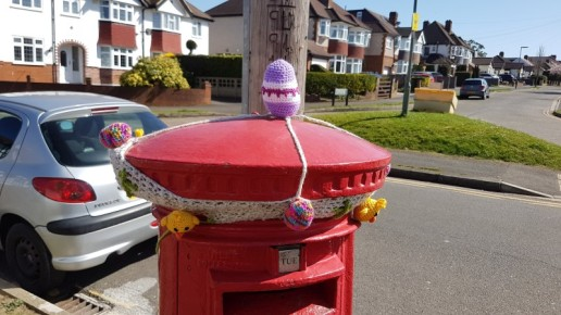 Easter postbox decoration