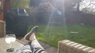 Glorious sunshine in the afternoon