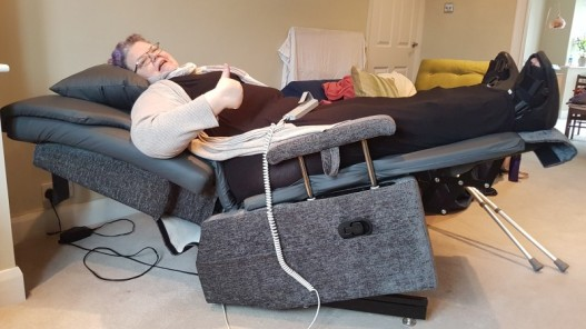 Rise and reclining chair bed